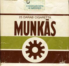 MUNKAS 25 Darab Cigareta Hungary, Budapest, Feelings, History, Country, Smoke, Vintage, Antiques, Branding