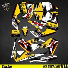 Kit Déco Quad pour / Atv Decal Kit for Can-Am Renegade - Yellow Strip Can Am, Quad, Iron Man Birthday, Strip, Kit, Graphic Design Inspiration, Decals, Canning, Yellow