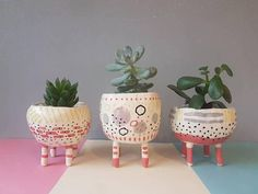 The Four Legs Collection Ceramic succulent pot cactus pot plant pot home studio pottery home decor legged plant pot pinch pot Ceramic Pinch Pots, Ceramic Plant Pots, Ceramic Clay, Cactus Ceramic, Ceramic Bowls, Ceramic Studio, Cactus Pot, Hand Built Pottery, Wheel Thrown Pottery