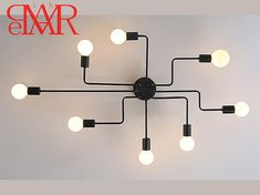 Online Cheap Wrought Iron 6 Heads 8 Heads Diy Multiple Rod Ceiling Dome Lamp Creative Personality Design Retro Nostalgia Cafe Bar Ceiling Light By Lightsone Retro Cafe, Ceiling Light Fixtures, Ceiling Lamp, Ceiling Lights, Cafe Bar, Vintage Decor, Rustic Decor, Loft Industrial, Chandelier