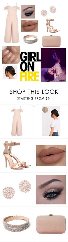 """""""Camila Cabello"""" by fshioncrazy ❤ liked on Polyvore featuring River Island, Gianvito Rossi, Swarovski and Dune"""