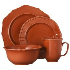 Threshold™ 16 Piece Wellsbridge Dinnerware Set - Brick. There is something about this color that draws me in. I love it! Sold in stores and online at Target.