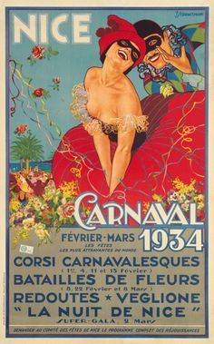Nice Carnaval, 1934. Francois Serracchiani