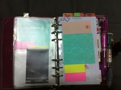self made post it page filofax