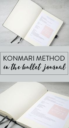 Konmari Spreads for Bullet Journal