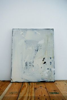 David Ostrowski, F (dann lieber nein), 2012. Painting oil, lacquer and adhesive foil on canvas, cm 40,5 x 50,5.