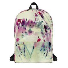 #backpack #floral #florals #flowers #artsy #wearableart