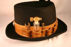 Men's steampunk hat size extra large by longagoandfaraway on Etsy, $38.00