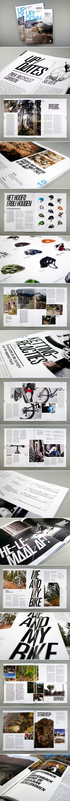 Up/Down Mountainbike Magazine by OK200 , via Behance