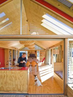 Plywood Floors and Cabinetry- although I think I'd prefer to have it cut in planks.