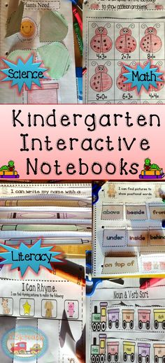 Interactive Notebooks specifically designed for kindergarteners!! LOVE THESE!!! Have your students have fun showing off their math, literacy and science skill. This notebook includes over 200 pages and is jam-packed with a variety of topics your students will love. You will love the simplicity of this notebook as it does not involve a lot of complex cutting or loose pieces that only get lost. This is perfect for young beginners. Save lots of money and time by purchasing this bundle.