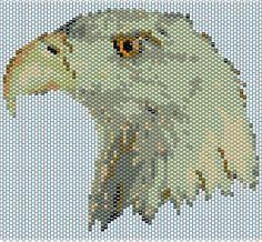 Bald Eagle Head Peyote stitch PATTERN