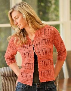 Summer Crochet Cardigan By Therese Chynoweth - Purchased Crochet Pattern - (ravelry)