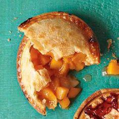 mini peach pie