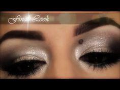 Holiday Silver Smokey Eye with Glitter - YouTube