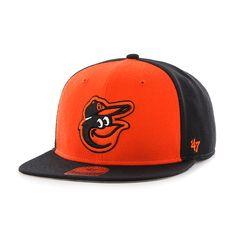 Baltimore Orioles Sure Shot Accent Captain Black 47 Brand Adjustable Hat 25e496585874