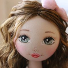 Doll Face Paint, Doll Painting, Sock Dolls, Creation Couture, Doll Eyes, Sewing Dolls, New Dolls, Doll Hair, Felt Toys