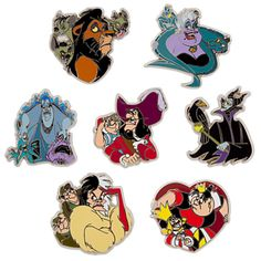 Disney Villains Pin Set | Pin Sets | Disney Store $29.95