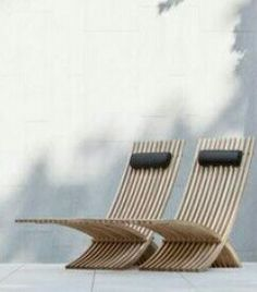Wooden sun chairs