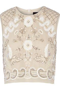NEEDLE & THREAD Embellished chiffon top. #needlethread #cloth #top