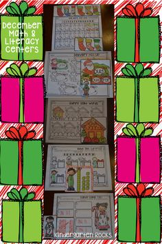 December themed math and Literacy centers.  Themes:  Christmas, Senses, Gingerbread Men, Sweets.