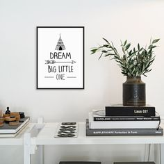 Poster Typography Design Black White Nordic canvas Art Print Nursery Pictures Family decor for painting on the wall Home decor