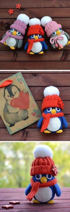 Baby penguin crochet pattern #amigurumi #amigurumidoll #amigurumipattern #amigurumitoy #amigurumiaddict #crochet #crocheting #crochetpattern #pattern #patternsforcrochet