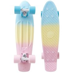 Penny The Penny Fade ($120) ❤ liked on Polyvore featuring accessories, skate, skateboards, random, skate boards and pastel fade