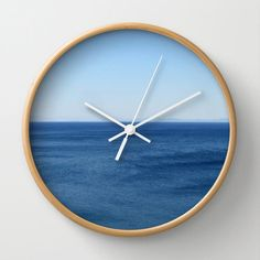 Aegean Sea wall clock ocean aqua azure water summer blue by aeolia, $40.00