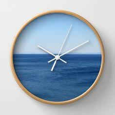 Aegean Sea wall clock ocean aqua azure water summer blue by aeolia, $40.00