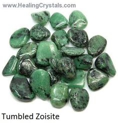 """""""Zoisite can help you get back your creative spark and focus on what you really enjoy doing. It keeps you from being lazy and idle. Zoisite transmutes negative energy into the positive and further enhances trust, not only in yourself, but the Universe in general. It helps you understand and communicate your own truths, without the influence of others."""" www.healingcrystals.com/Tumbled_Zoisite__Africa__-_Tumbled_Stones.html Use coupon code HCPIN10 to receive 10% off of your order"""