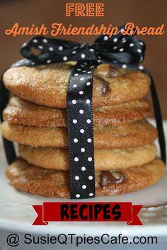 Friendship bread recipes - Amish Friendship Bread Starter recipe, too. Friendship Cake, Friendship Bread Recipe, Friendship Bread Starter, Amish Friendship Bread, Amish Bread Recipes, Dutch Recipes, Cookbook Recipes, Dessert Recipes, Cooking Recipes