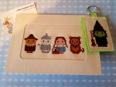 Wizard of Oz Card Available from my etsy store  www.littleginghambear.com Wizard Of Oz, Etsy Store, Gingham, Cross Stitch, Just For You, Bear, Cards, Handmade, Punto De Cruz