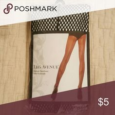 Fishnet hose with backseam Black size large.  In original package, never worn. Fits 90-160 lbs. Accessories Hosiery & Socks