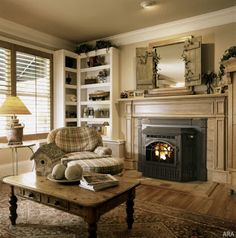 Wonderful Photos Farmhouse Fireplace insert Strategies After deciding you'd li. : Wonderful Photos Farmhouse Fireplace insert Strategies After deciding you'd like to own a ranch or farm, saving the mandatory funds, finding an ideal spo Wood Stove Fireplace Insert, Wood Burning Fireplace Inserts, Old Fireplace, Farmhouse Fireplace, Living Room With Fireplace, My Living Room, Fireplaces, Fireplace Ideas, Fireplace Mantel