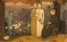 'october', maurice denis Maurice Denis, Avant Garde Artists, Pierre Bonnard, Fauvism, France, Impressionist, Abstract Art, October, Fine Art