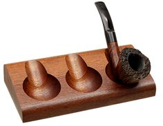 Pipe Accessories Savinelli Como 3 Pipe Wood Stand Accessories at Smoking Pipes .com
