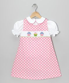 Take a look at this White Blouse & Pink Cupcake Jumper - Infant, Toddler & Girls by Vive La Fête on #zulily today!