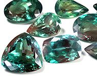 Alexandrite: ALEXANDRITE is more rare than diamond. It is one of only a couple color change gemstones! This means it actually changes color in different light! It is found in Russia, Brazil, India, and a few other locations. Alexandrite that is found in different places have different color's and color changes. Originally found in Russia and supposibly named after Alexander the Great, Russian. Alex from Russia changes from from blue/green to purple!