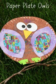 Paper Plate Owls - happy hooligans - fall crafts for kids So sweet!