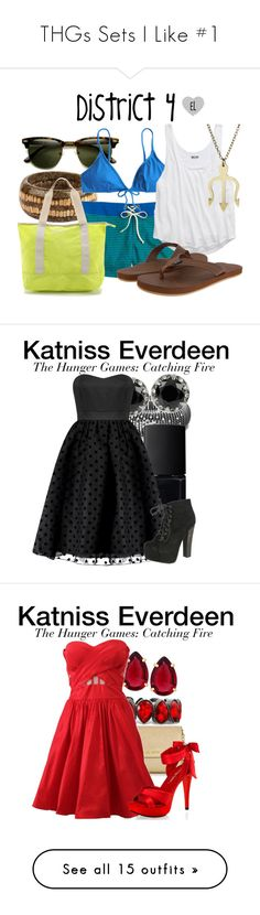 """""""THGs Sets I Like #1"""" by kelseystan97 ❤ liked on Polyvore featuring J.Crew, American Eagle Outfitters, Vineyard Vines, Bensimon, thehungergames, THG, District4, David Yurman, NARS Cosmetics and Betsey Johnson"""