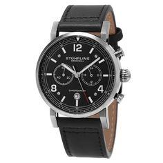 Stuhrling Orgnal Men's Quartz Aviator Chronograph Strap Watch