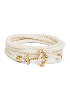 gotta love classic nautical style. This bracelet is gorgeous! KJP Lanyard Hitch Cord Bracelet