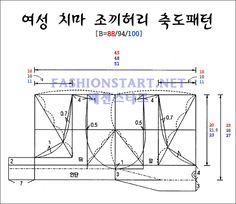 여자한복조끼허리축소패턴 - 출처 : 패션스타트