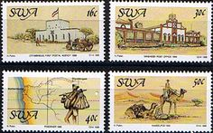 South West Africa 1988 Centenary of Postal Service Fine Mint    SG 495 8 Scott 602 5 Other African and British Commonwealth Stamps HERE!