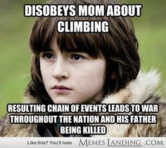 Bran of Bad luck - - Game of Thrones Photos and Funny Pics - Memes Landing