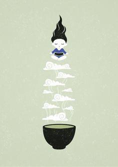 Saatchi Online Artist: Indrė Bankauskaitė; Vector, Digital Zen Tea