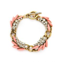 Pink and gold statement bracelet.