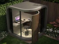 is your commute killing both you and the environment this small office concept from uk based officepod is a one room workspace that is designed to backyard office pod cuts
