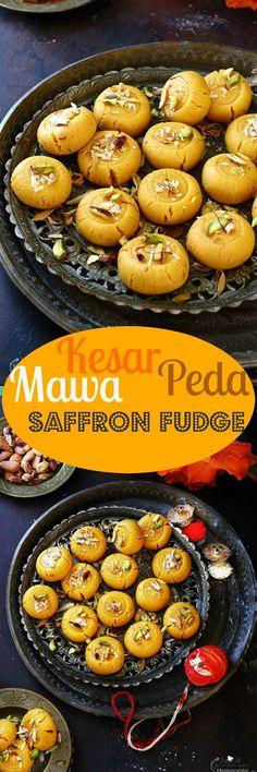 Jagruti's Cooking Odyssey: Kesar Mawa Peda / Penda - Indian Style Creamy Saffron…